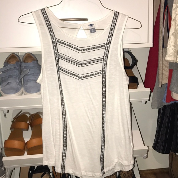 Old Navy Tops - white embroidered old navy tank